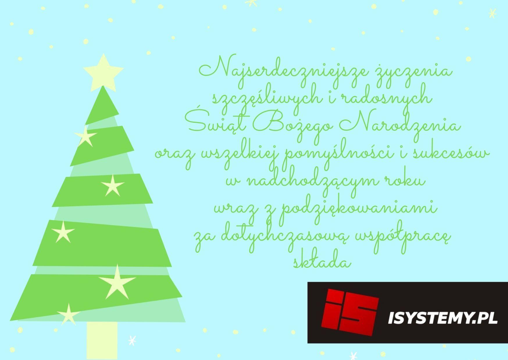 Życzenia od ISYSTEMY.PL