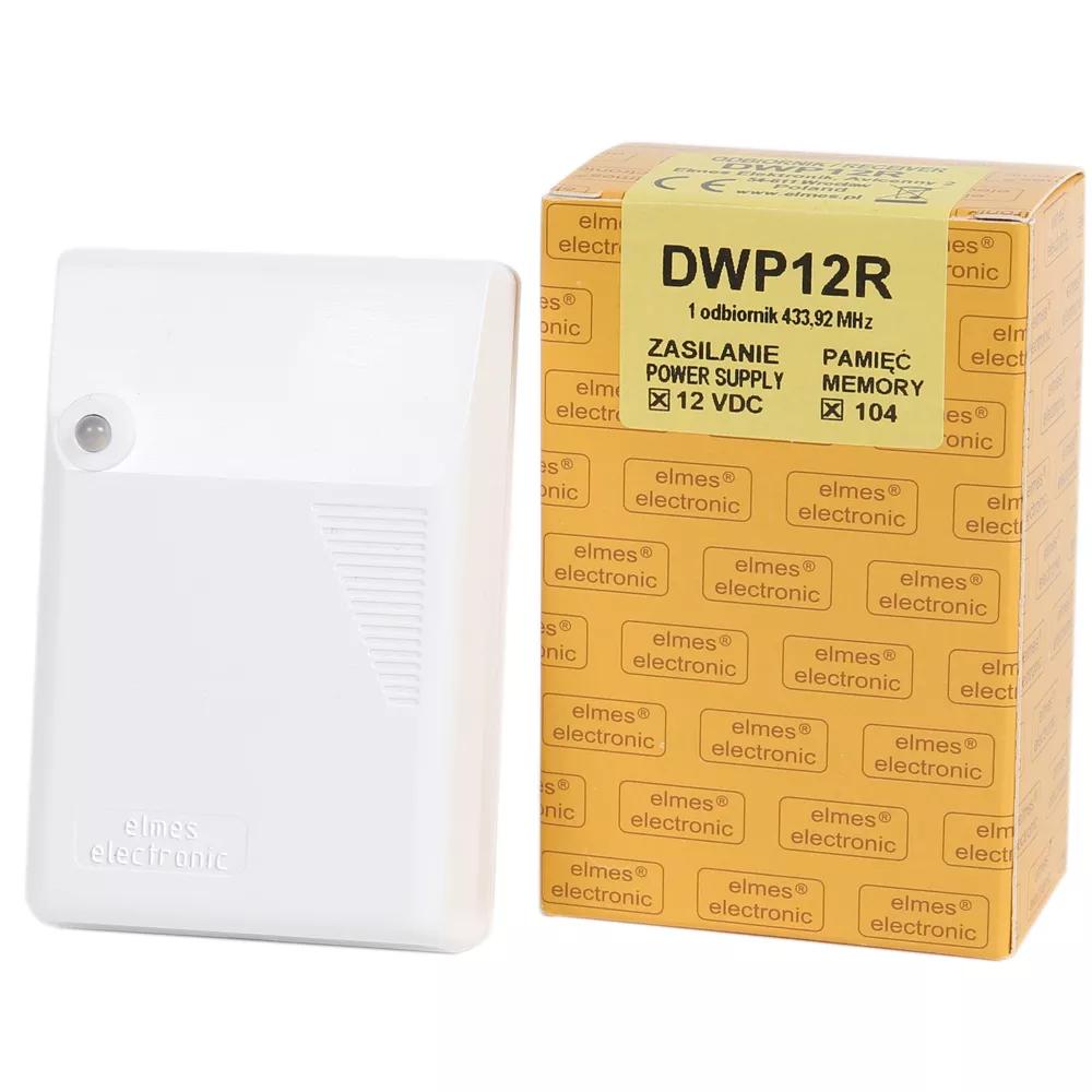 DWP12R Odbiornik 2-kanałowy, zasilanie 12VDC  obciążalność przekaźników: 10A.