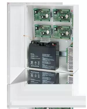 Obudowa z zasilaczem buforowym na moduły kontrolerów na szynę DIN i akumulator