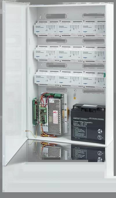 ME-5-S Obudowa z zasilaczem buforowym na moduły kontrolerów na szynę DIN i akumulator