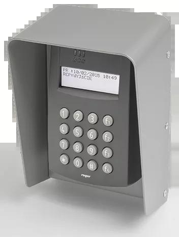 PR602LCD-DT-O Zewnętrzny kontroler dostępu z czytnikami EM 125 kHz oraz 13.56 MHz MIFARE i klawiaturą, w obudowie ochronnej