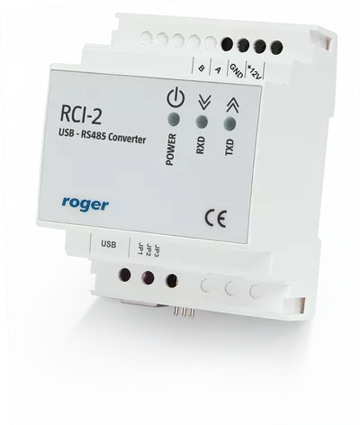 RCI-2 Interfejs komunikacyjny USB-RS485 w obudowie na szynę DIN