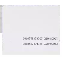 Karta zbliżeniowa cienka PVC EM 125 kHz.
