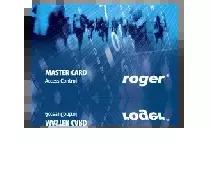 Karta zbliżeniowa cienka PVC EM 125 kHz z nadrukiem offsetowym ROGER Master.