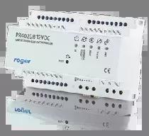 Wewnętrzny kontroler dostępu w obudowie na szynę DIN, zasilanie 12VDC.