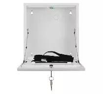 AWO528W Obudowa pionowa mini na rejestrator DVR biała zamykana na klucz 320x430x82mm