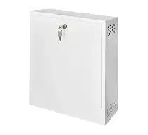 AWO529W Obudowa pionowa mała na rejestrator DVR biała zamykana na klucz 435x500x121mm