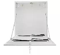AWO530W Obudowa pionowa średnia na rejestrator DVR biała zamykana na klucz 535x650x130mm
