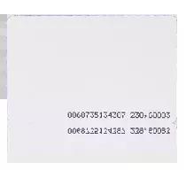 Karta zbliżeniowa cienka PVC EM 125 kHz z układem Q5,