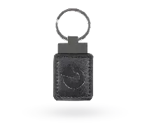 JA-194J-BK Skórzany breloczek RFID - czarny