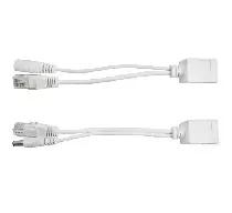 P-PoE1 zestaw adapterów PoE ze złączami typu RJ45 i 2.1/5.5