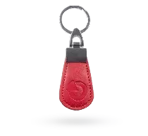 PC-14-RE Skórzany breloczek RFID - czerwony