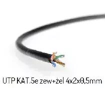 UTP 4x2x0.5 KAT.5 CU żelowany przewód sieciowy, 1 metr